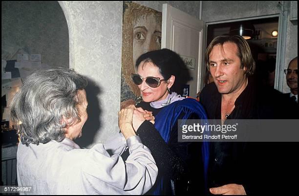 The singer Barbara and Gerard Depardieu party in Paris
