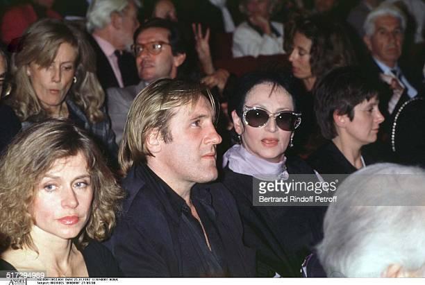 The singer Barbara Elisabeth and Gerard Depardieu party in Paris