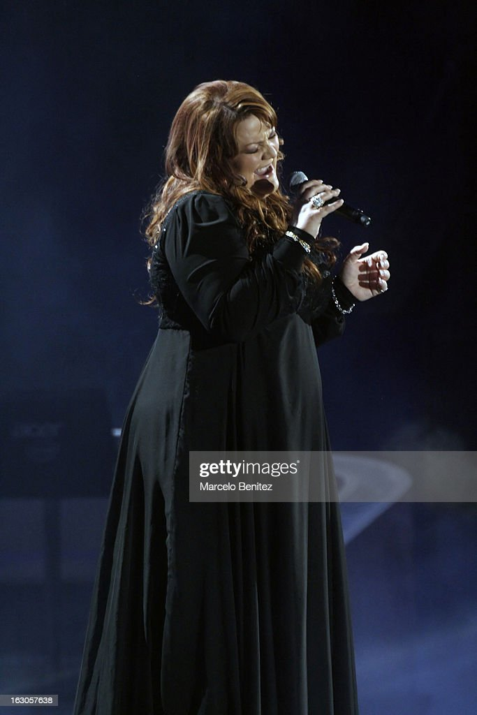 The singer Bjork of Iceland performs at the stage of the Quinta Vergara during the 53rd International Festival of Song of Viña del Mar on March 01, 2013 in Vina del Mar, Chile.