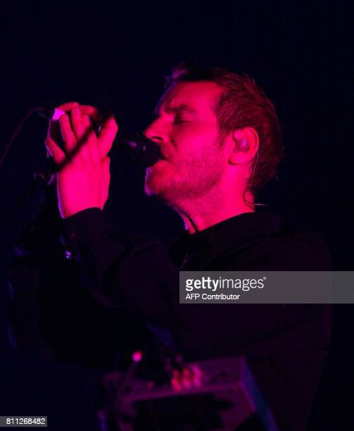 The singer from British triphop group 'Massive Attack' Robert del Naja performs on stage early 20 June 2004 at the 11th Sonar festival in Barcelona...
