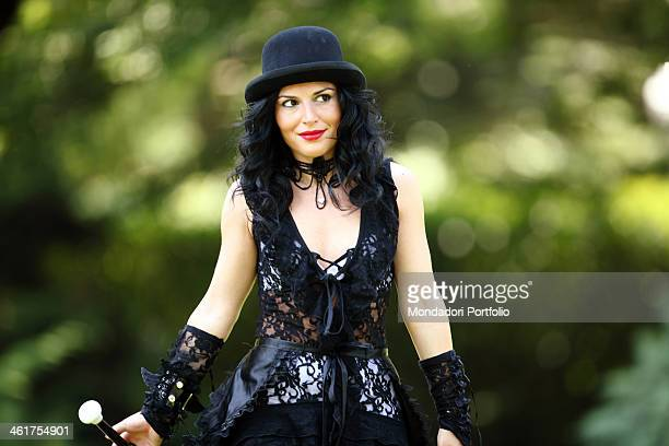 The singer Giusy Ferreri during a photo shooting at the Malaspina Sporting Club in the San Felice district Milan Italy 19th July 2010