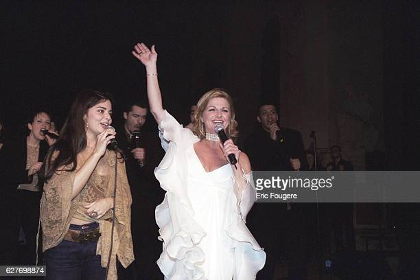 The singer Jeane Manson and her daughter Shirel