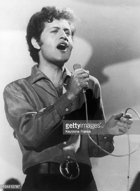 The singer Joe DASSIN in 1969