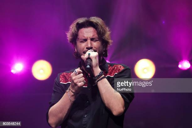 The singer Manuel Carrasco during his concert offered in the palace of the Sports of Madrid Spain on June 29 2017