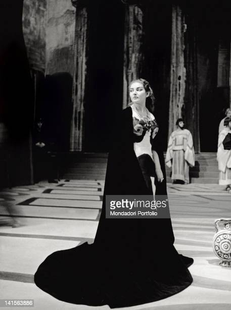 The singer Maria Callas plays the role of 'Medea' in the opera of the same name of Luigi Cherubini at the Teatro alla Scala Milan winter 1953