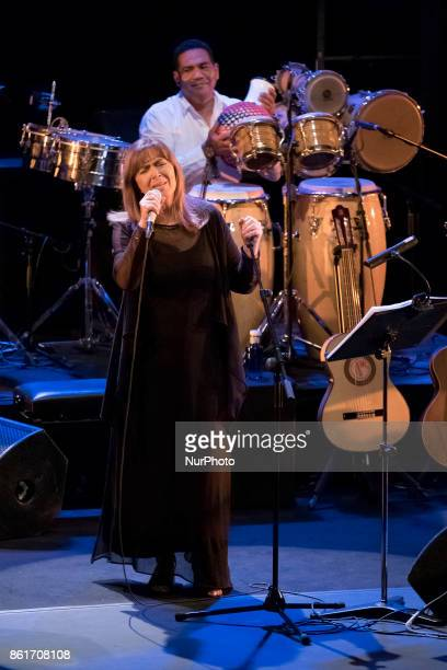 The singer Maria del Mar Bonet during the Overseas concert at the Fernán Gómez Theater in Madrid Spain October 15 2017