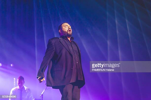 the singer Marian Gold of the Group Alphaville is photographed for Paris Match at the show TOP 50 on february 25 2016 in Rouen France
