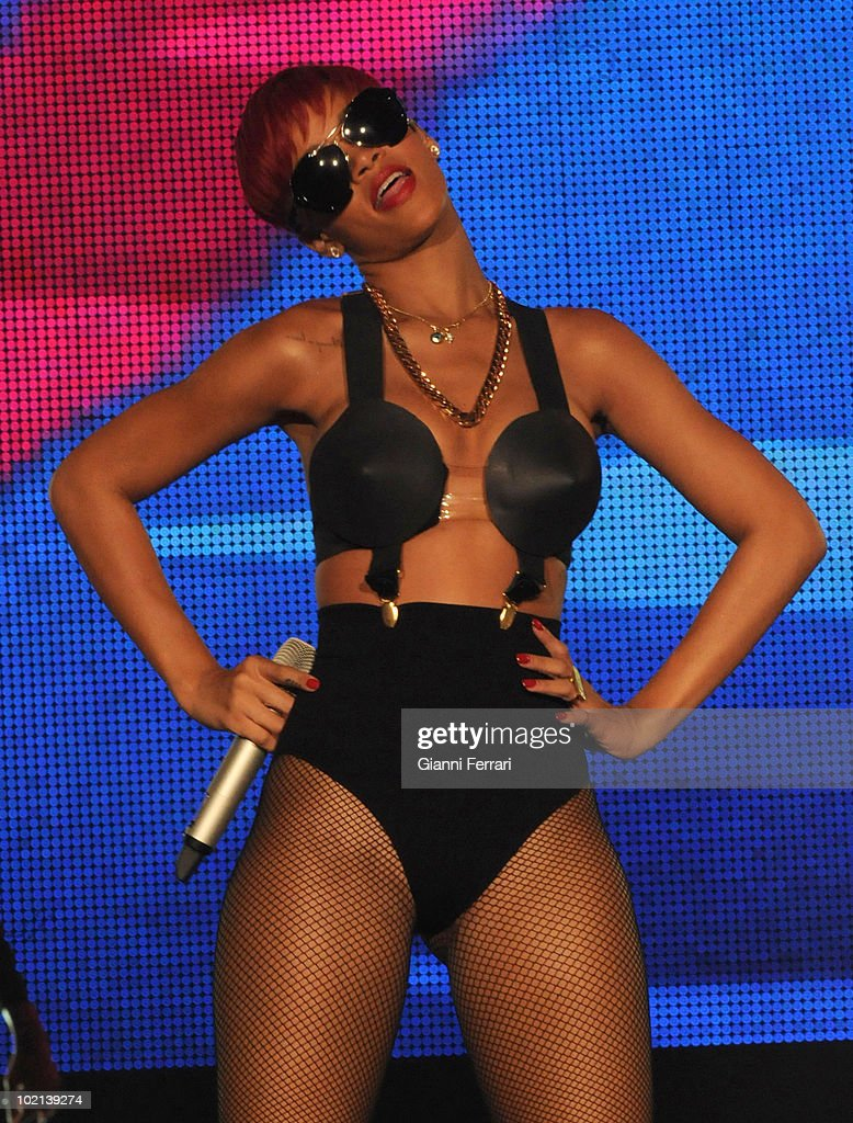 The singer of Barbados Rihanna during his concert in 'Rock in Rio', 5th Juny 2010, Arganda del Rey, Madrid.
