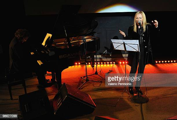 The singer Patty Pravo attends during the Closing Ceremony during the 25 Torino GLBT Film Festival on April 22 2010 in Turin Italy