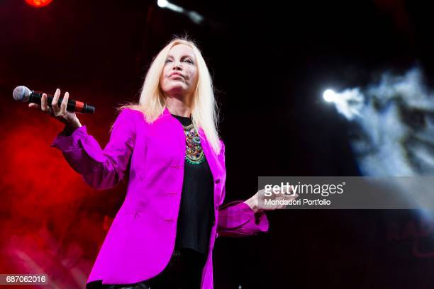 The singer Patty Pravo in concert Modena Italy 27th July 2015