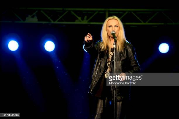 The singer Patty Pravo in concert Rimini Italy 11th July 2014