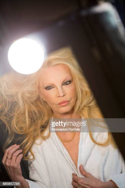 The singer Patty Pravo in the dressing room Milan Italy 2nd January 2016