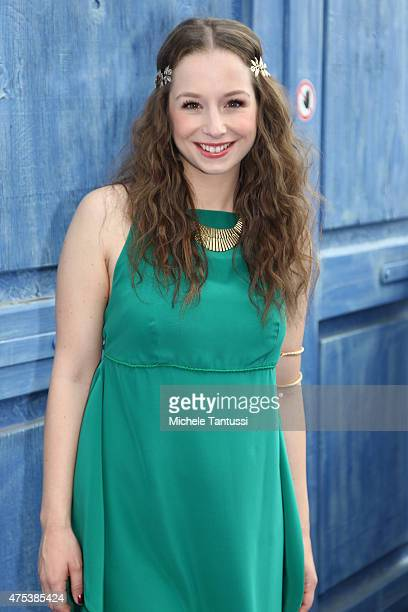 The singer SentaSofia Delliponti ' Oonagh' perform in during the season kick off of the tv show 'Immer wieder Sonntags' at Europapark on May 31 2015...