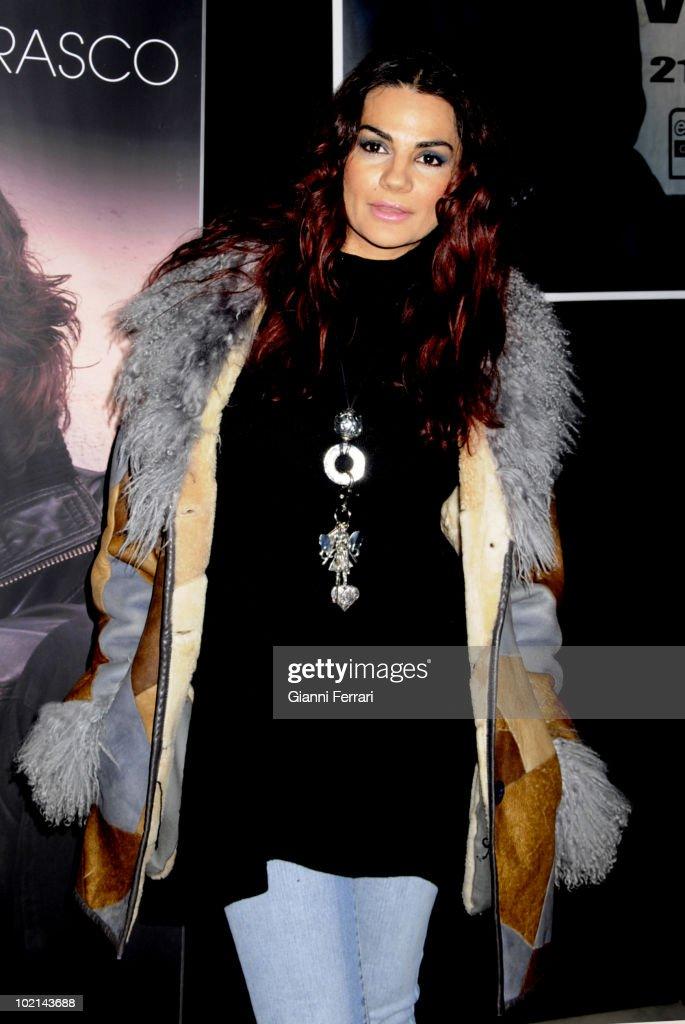 The singer Silvia Pantoja, 18th January 2009, Theater 'Lope de Vega', Madrid, Spain.
