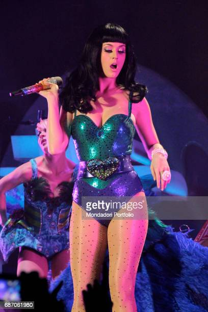 The singersongwriter and actress Katy Perry performing at the Mediolanum Forum in Assago Assago Italy 24th February 2011