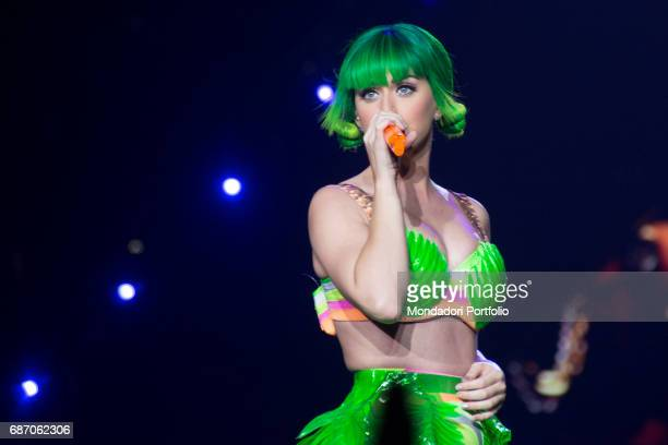 The singersongwriter and actress Katy Perry performing at the Mediolanum Forum in Assago for the only Italian date of her Prismatic World Tour Assago...