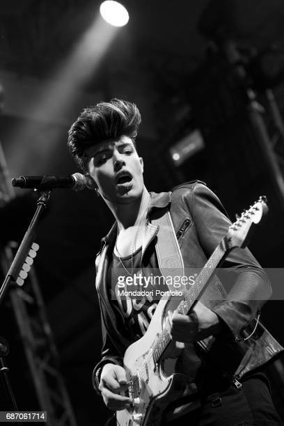 The singersongwriter and voice of The Kolors Stash in concert Cervia Italy 25th July 2015