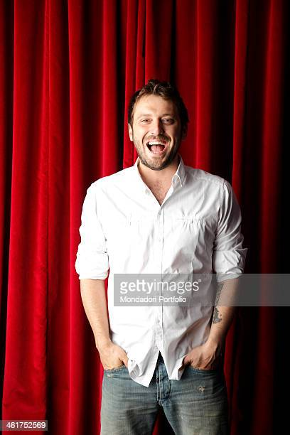 The singersongwriter Cesare Cremonini during a photo shooting at the recording studio Mille Galassie Casalecchio di Reno Italy 7th May 2012