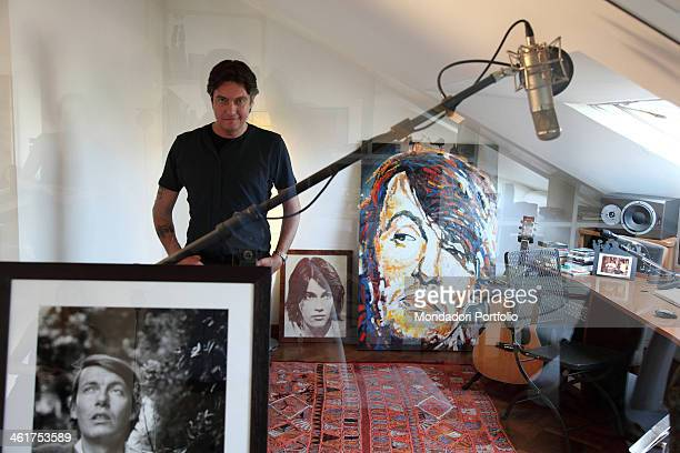 The singersongwriter Cristiano De André photo shooted in his house in Milan Milan Italy 2nd July 2009