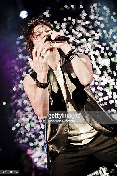 'The singersongwriter Gianna Nannini performing at Mediolanum Forum in a photo shooting Assago Italy November 2009 '