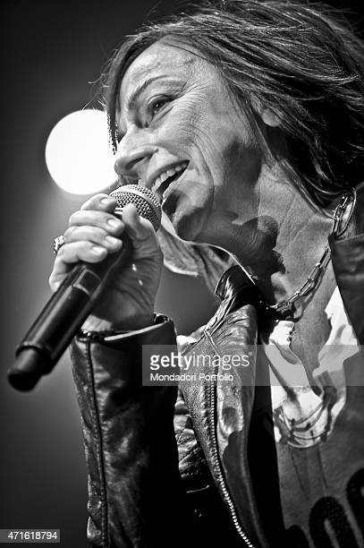 'The singersongwriter Gianna Nannini performing at Mediolanum Forum in a photo shooting Assago Italy April 2011 '
