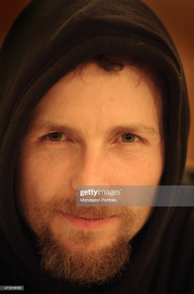 The singer-songwriter Jovanotti (<a gi-track='captionPersonalityLinkClicked' href=/galleries/search?phrase=Lorenzo+Cherubini&family=editorial&specificpeople=4945493 ng-click='$event.stopPropagation()'>Lorenzo Cherubini</a>) being photo shooted in concert at Nelson Mandela Forum in Florence, for the second date of the Buon Sangue Tour. Florence, Italy. 2005