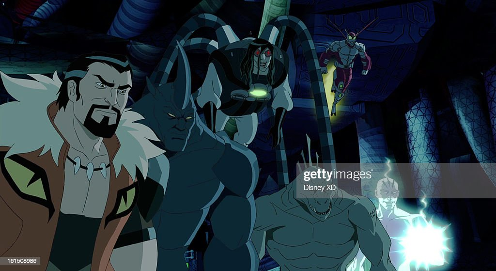 MAN - 'The Sinister Six' - Spider-Man is trapped alone with six of his most dangerous foes: Rhino, Kraven the Hunter, Lizard, Electro, Beetle and a secret sixth member. This new episode of 'Ultimate Spider-Man' airs on SUNDAY, FEBRUARY 17 (11:00 -11:30 a.m., ET/PT) on Marvel Universe on Disney XD. (Image by Marvel via Getty Images) KRAVEN