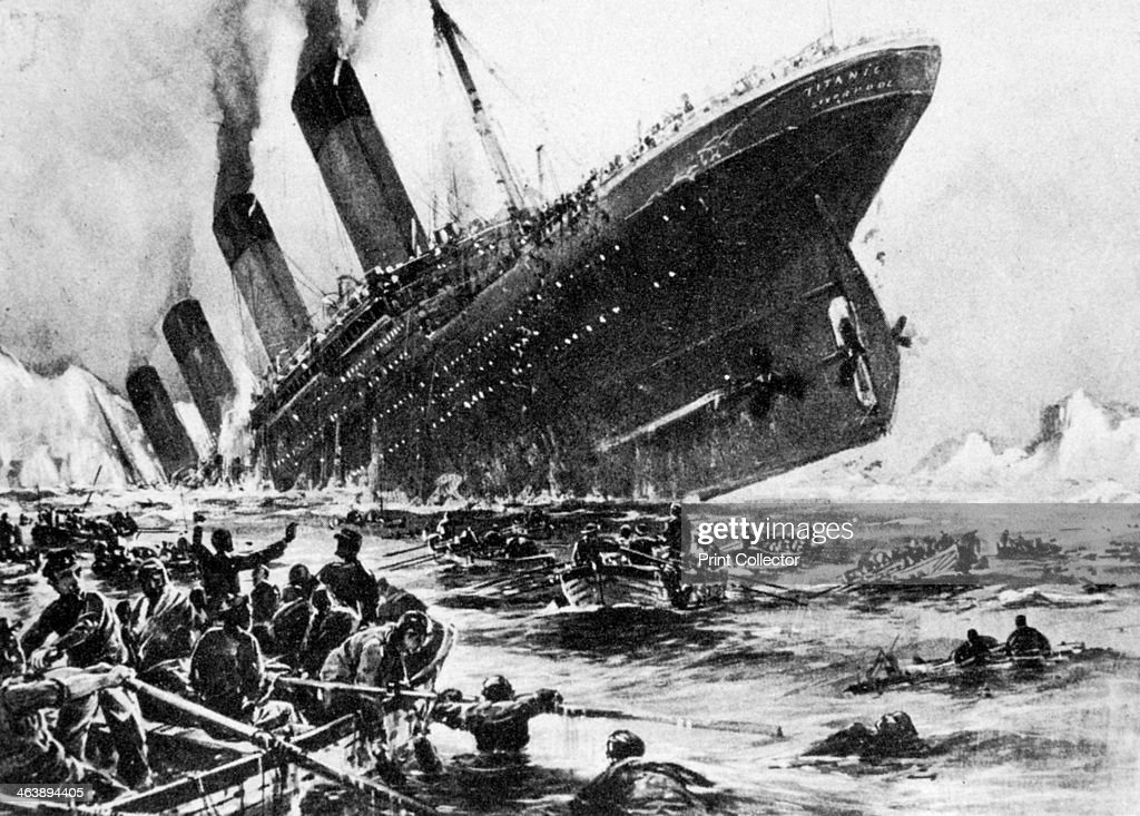 The sinking of SS Titanic 14 April 1912 An artist's impression of the ship going down Operated by the White Star Line on 14 April 1912 SS Titanic...