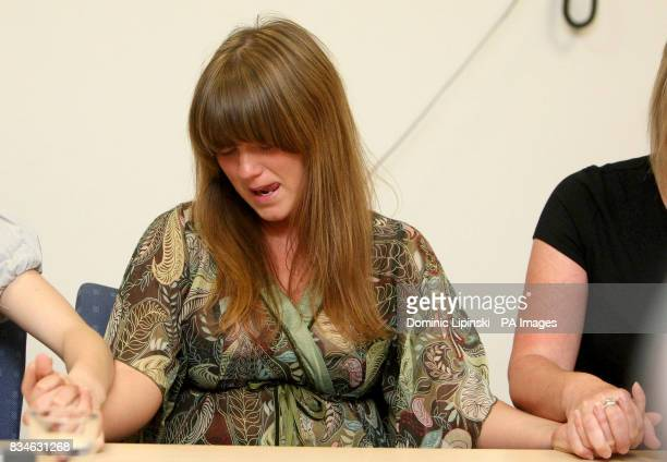 The sister of murdered Ben Kinsella Jade Kinsella at a press conference in Barking Essex