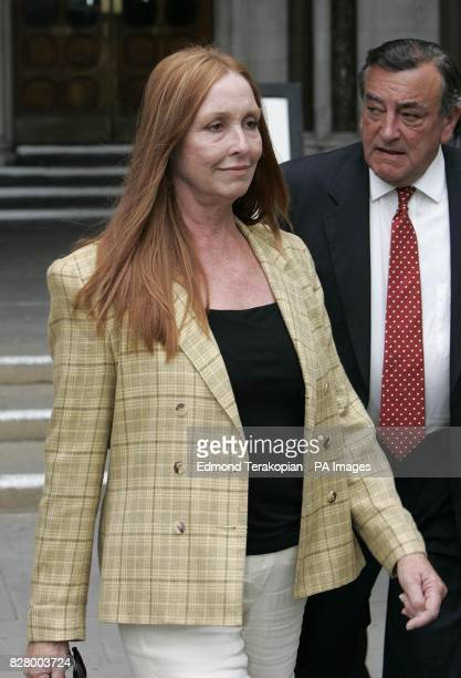 The sister of the late Sharon Tate Deborah Tate leaving the High Court