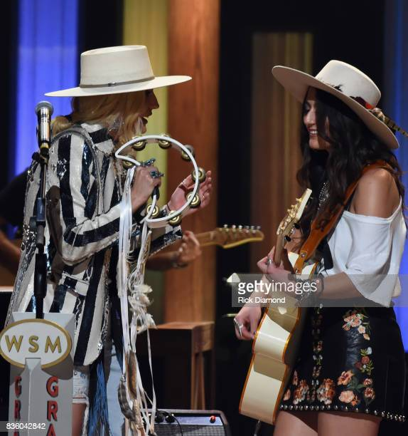 The Sisterhood are Ruby Stewart and Alyssa Bonagura make their debut during Grand Ole Opry Total Eclipse 2017 Special Sunday Night Show at Grand Ole...