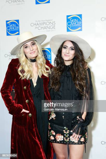 The SisterhoodRuby Stewart and Alyssa Bonagura during the Skin Cancer Foundation's Champions for Change Gala at Cipriani 25 Broadway on October 17...
