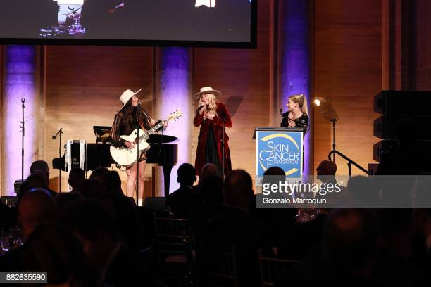 The SisterhoodRuby Stewart and Alyssa Bonagura performing during the Skin Cancer Foundation's Champions for Change Gala at Cipriani 25 Broadway on...