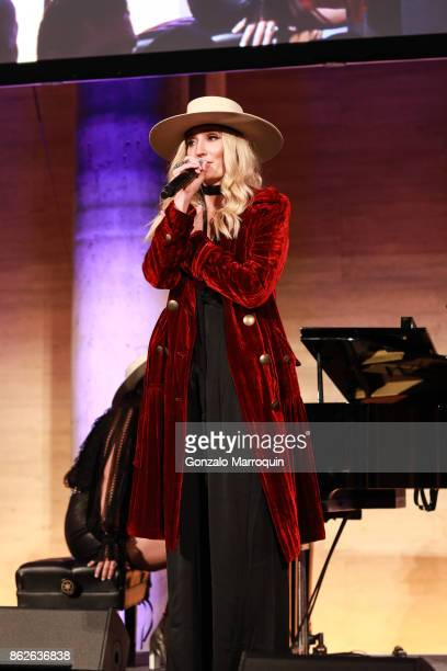 The Sisterhood«s Ruby Stewart performing during the Skin Cancer Foundation's Champions for Change Gala at Cipriani 25 Broadway on October 17 2017 in...
