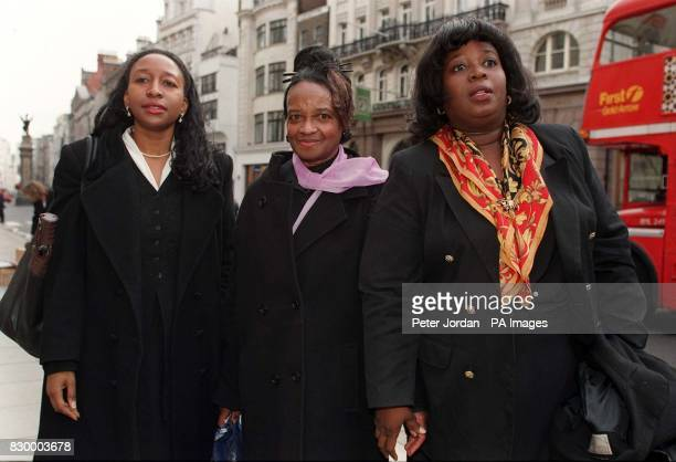The sisters of murdered doctor Joan Franciso Celia Venus and Margrette arrive at the High Court in London today where they won their unprecedented...