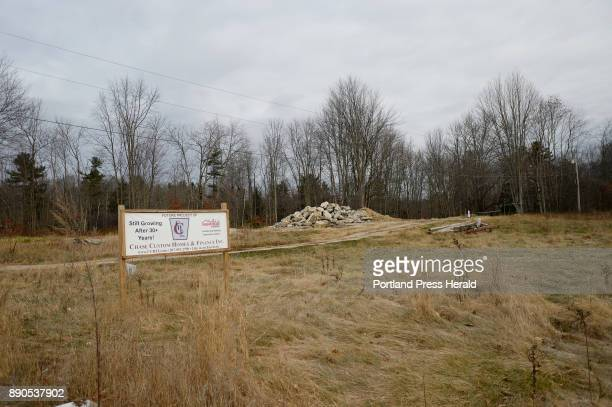 The site of a potential development by Chase Custom Homes at 19 Roosevelt Trail in Windham Tuesday November 28 2017 A mysterious summertime algae...