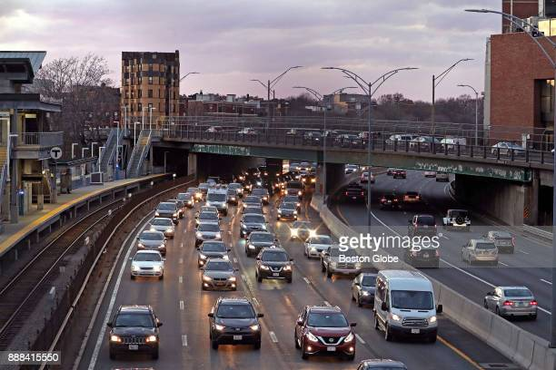 The site of the longdelayed mixeduse Fenway Center project atop the Mass Pike near Fenway Park is pictured on Dec 7 2017 Work on the first phase of...