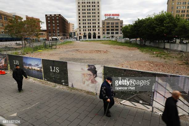 The site of the One Journal Square luxury apartment project stands in Jersey City on May 9 2017 in Jersey City New Jersey It has been reported that...