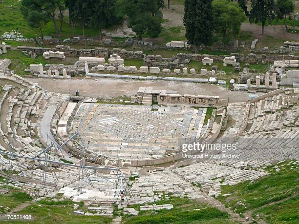 The site of the Theatre of Dionysus Eleuthereus on the south slope of the Athenian Acropolis excavated in 1838 and throughout most of the following...