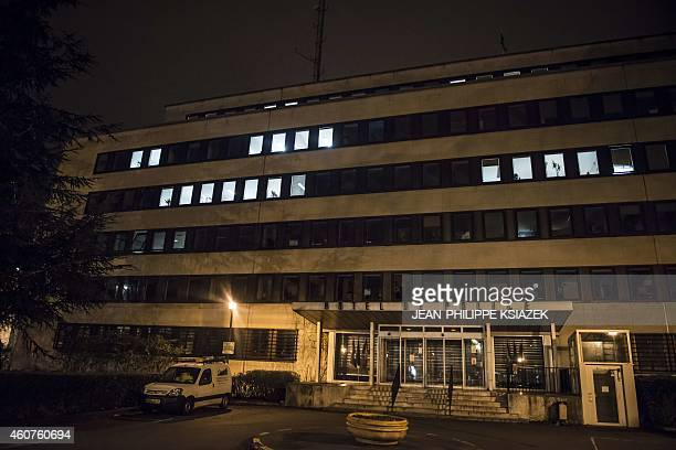 The site on December 21 2014 in Dijon near where a driver shouting 'Allahu Akbar' ploughed into a crowd injuring 11 people two seriously a source...
