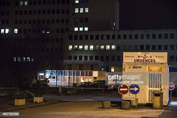 The site on December 21 2014 in Dijon where a driver shouting 'Allahu Akbar' ploughed into a crowd injuring 11 people two seriously a source close to...