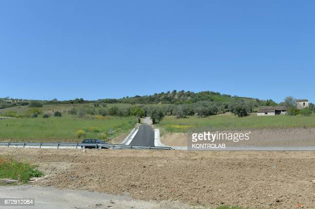 The site where the cemetery will be built during the official presentation of the project of the 'Cemetery memorial for migrants and refugees the...
