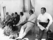 'The Six Roses' mafia leaders under house arrest on the island of Linosa near Sicily Left to right Rosario Mancino of Palermo Salvatore Sanfilippo of...