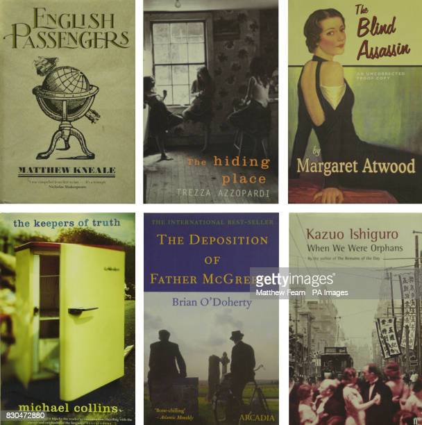 The six short listed books for the Booker Prize 2000 which is now in it's 32nd year * Matthew KnealeEnglish Passengers Trezza AzzopardiThe Hiding...