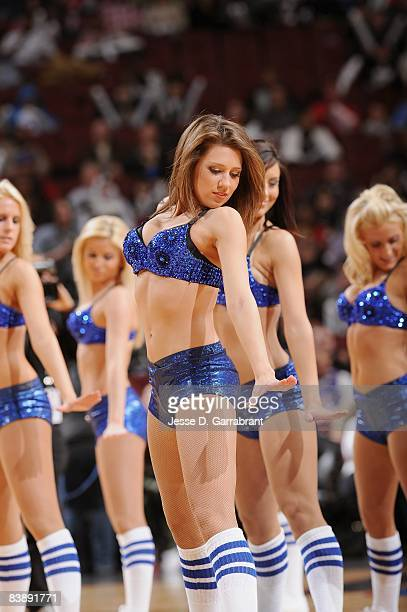 The Sixers Dancers perform during a break from the game between the Los Angeles Clippers and the Philadelphia 76ers on November 21 2008 at Wachovia...