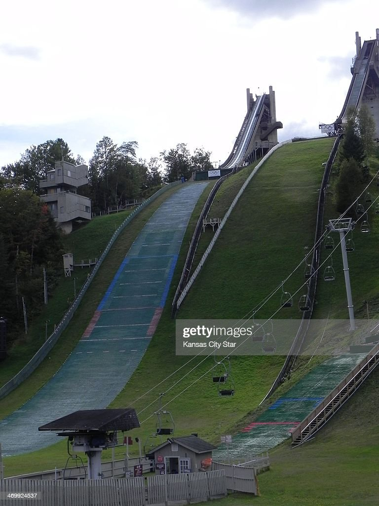 The ski jump hill outside of Lake PLacid NY once a part of the 1980 Olympics still gets plenty of use from athletes training for the Winter Games