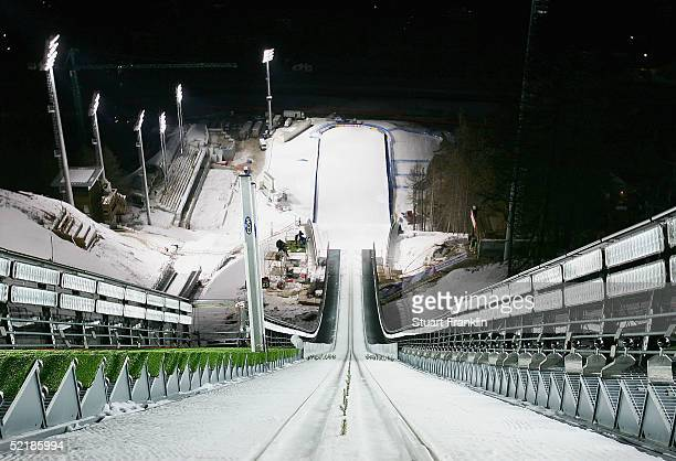 The Ski Jumping Stadium at Pragelato on Feburary 11 2005 in Pragelato Italy