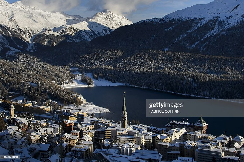 The ski resort of St. Moritz is seen on December 8, 2012. Switzerland's Olympic committee is to back a joint bid from the luxury Alpine resorts of Davos and St Moritz to host the 2022 Winter Games. A final decision on a candidature is expected next March 2013, when voters of Graubuenden canton will have a say in the plans. St. Moritz last hosted the Winter Olympics back in 1948 and once before in 1924.