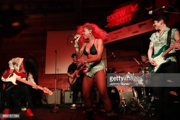 The Skins performs during Day 9 of the 2017 SXSW Conference And Festivals on March 18 2017 in Austin Texas