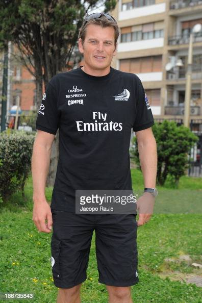 The skipper of Emirates Team New Zealand Dean Barker attends Skippers Press Conference City of Naples America's Cup World Series on April 16 2013 in...